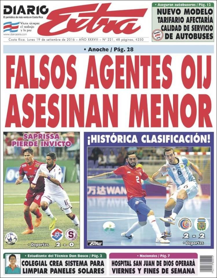 newspaper diario extra costa rica newspapers in costa rica