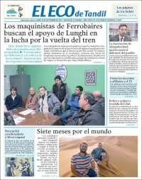Portada de El Eco de Tandil (Argentina)