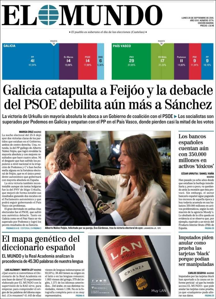Quelle presse espagnole lire les journaux espagnols en ligne espagne facile - Nom de journal espagnol ...