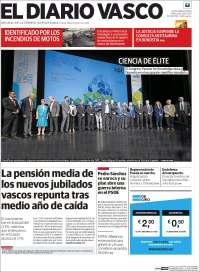 Portada de Diario Vasco (España)