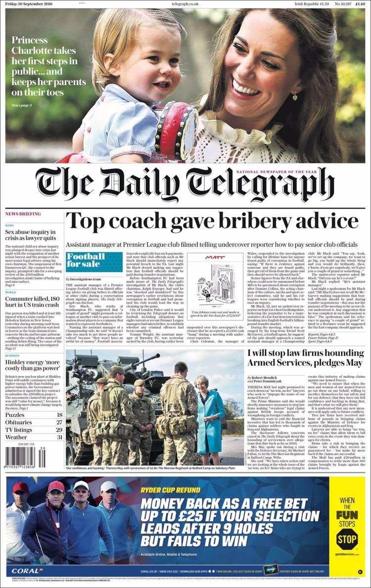 Portada de Daily Telegraph (United Kingdom)