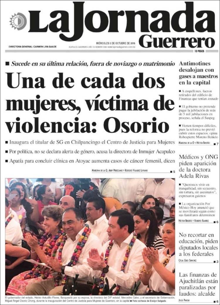 Peri Dico La Jornada De Guerrero M Xico Peri Dicos De