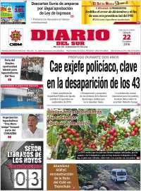Portada de El Diario del Sur (México)