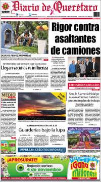 Portada de Diario de Querétaro (México)