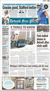 Portada de Detroit Free Press (USA)