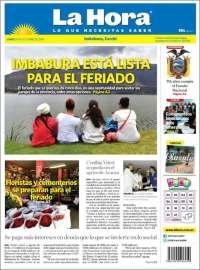 Portada de La Hora - Ecuador (Ecuador)