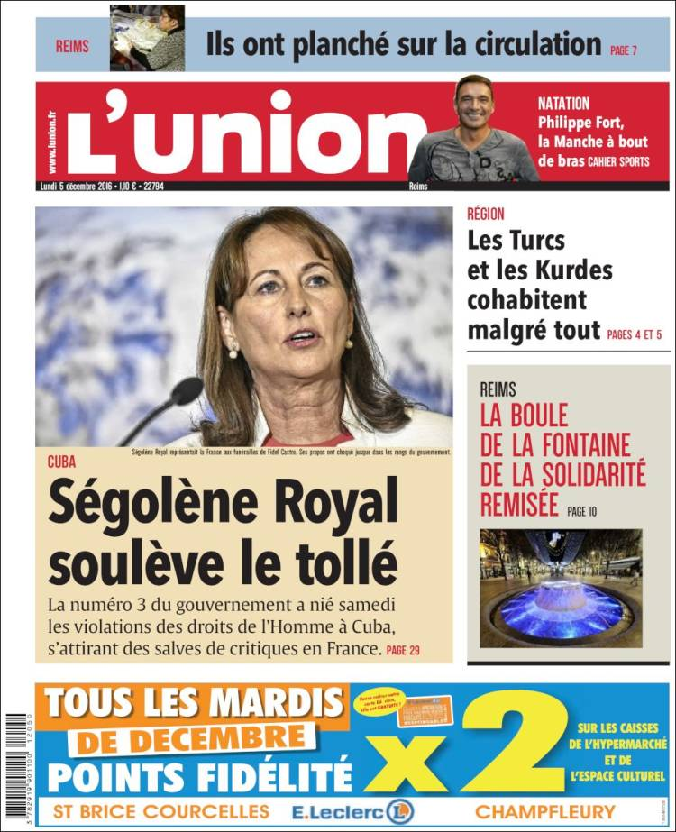 Portada de L'Union (Francia)
