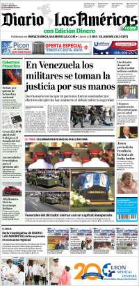 Portada de Diario Las Américas (USA)