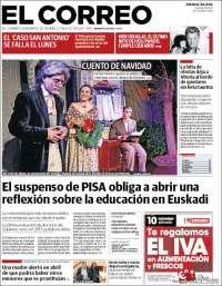 Portada de El Correo - Álava (España)